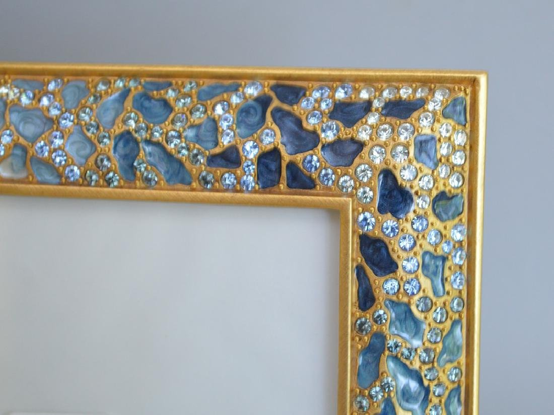 4 Jay Strongwater enamel frames, each frame is signed - 4