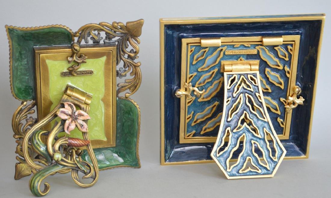4 Jay Strongwater enamel frames, each frame is signed - 7