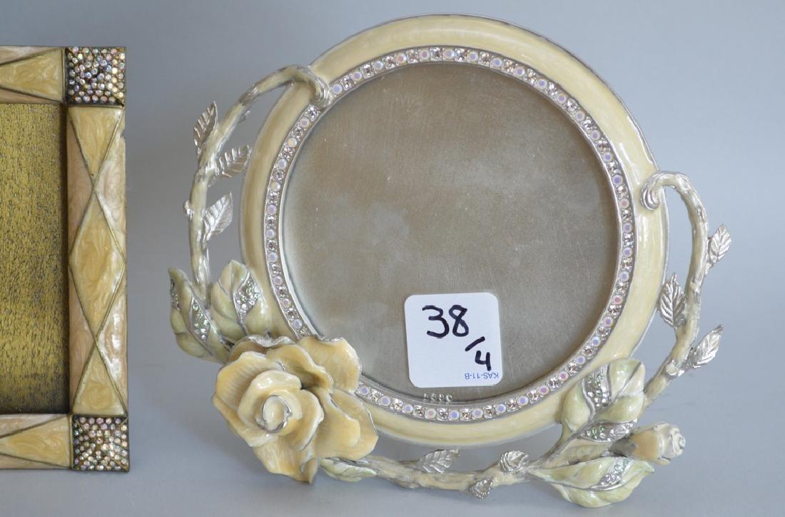 4 Jay Strongwater enamel frames, each signed, frame - 2