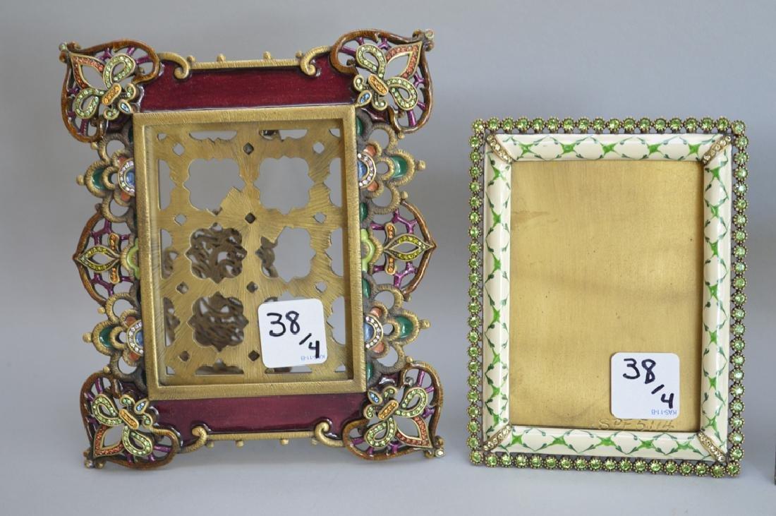 4 Jay Strongwater enamel frames, each signed, frame - 4