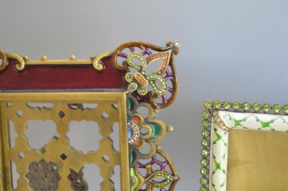 4 Jay Strongwater enamel frames, each signed, frame - 5