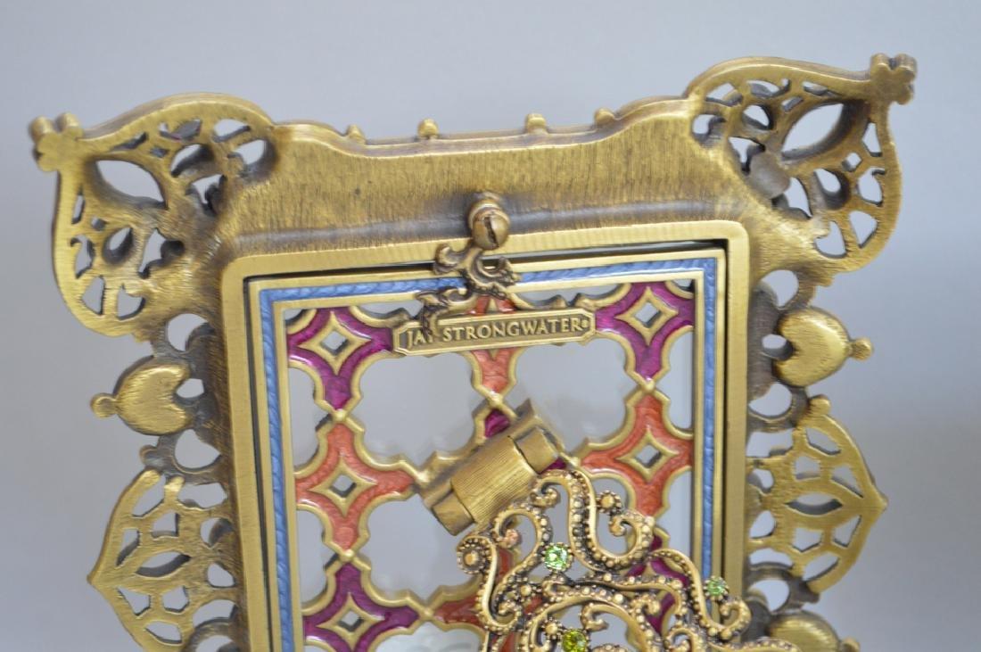 4 Jay Strongwater enamel frames, each signed, frame - 7
