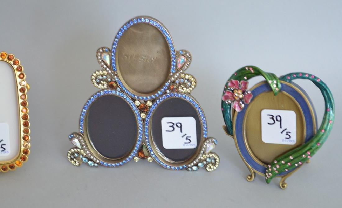 5 Jay Strongwater enamel frames, each signed, triple - 2