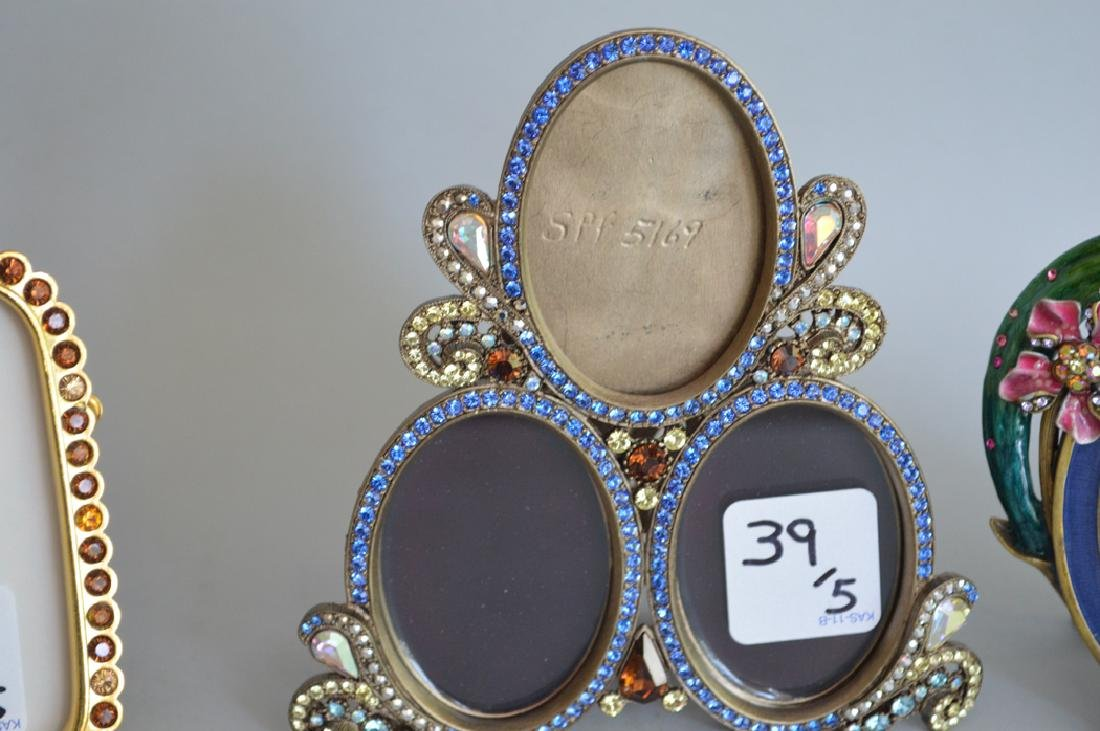 5 Jay Strongwater enamel frames, each signed, triple - 5