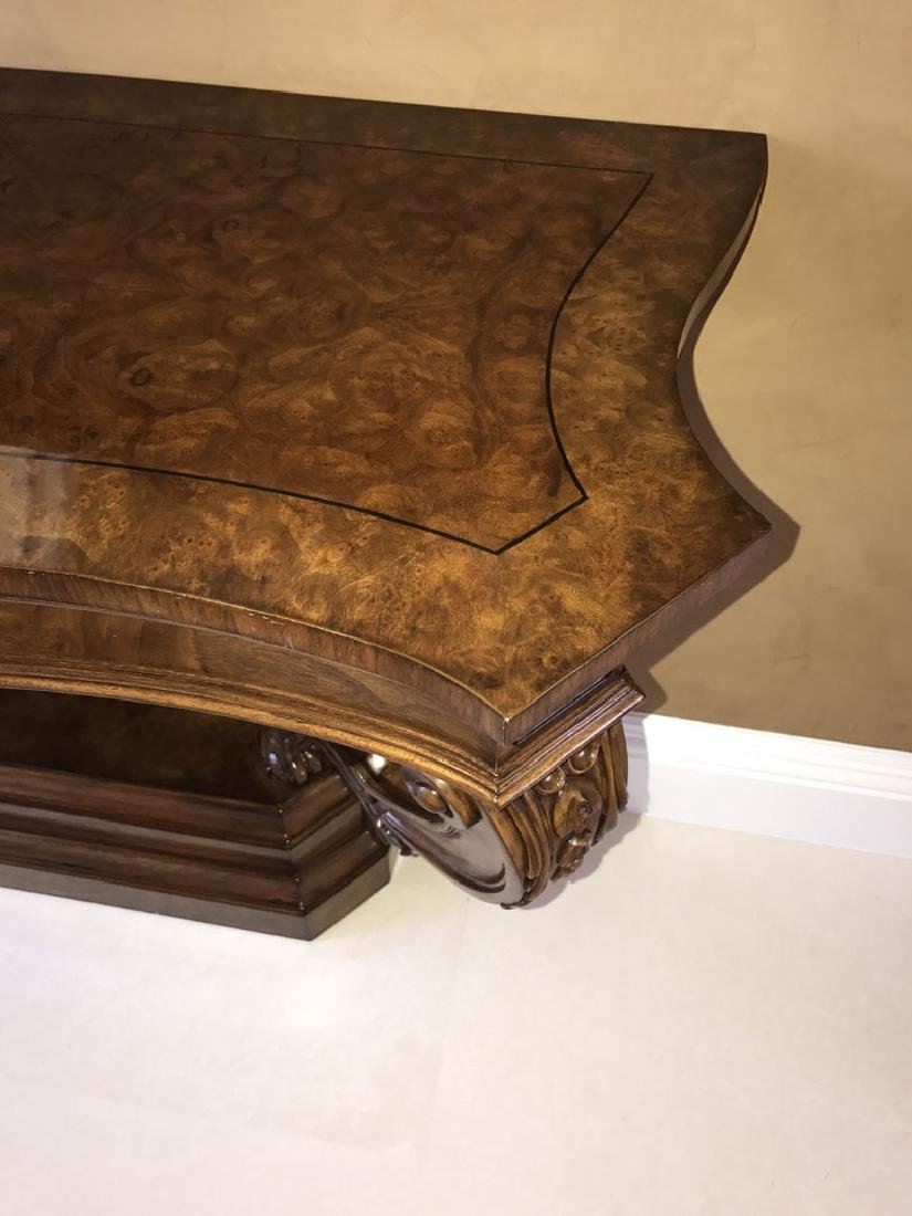 Karges mahogany console, 34 1/2h x 62w x 19 1/2d (one - 4