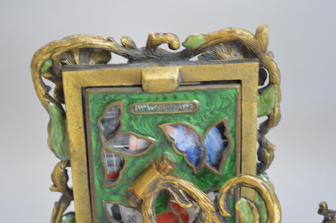 5 Jay Strongwater enamel frames, each signed, tallest 6 - 10