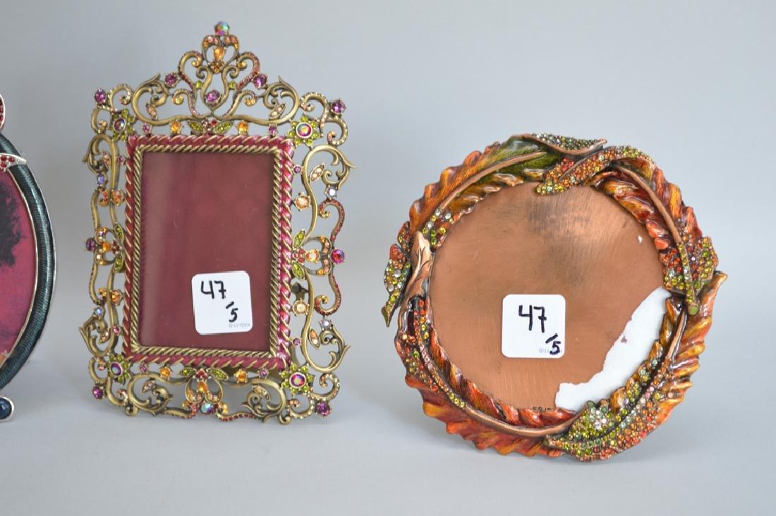 5 Jay Strongwater enamel frames, each signed, tallest 6 - 2
