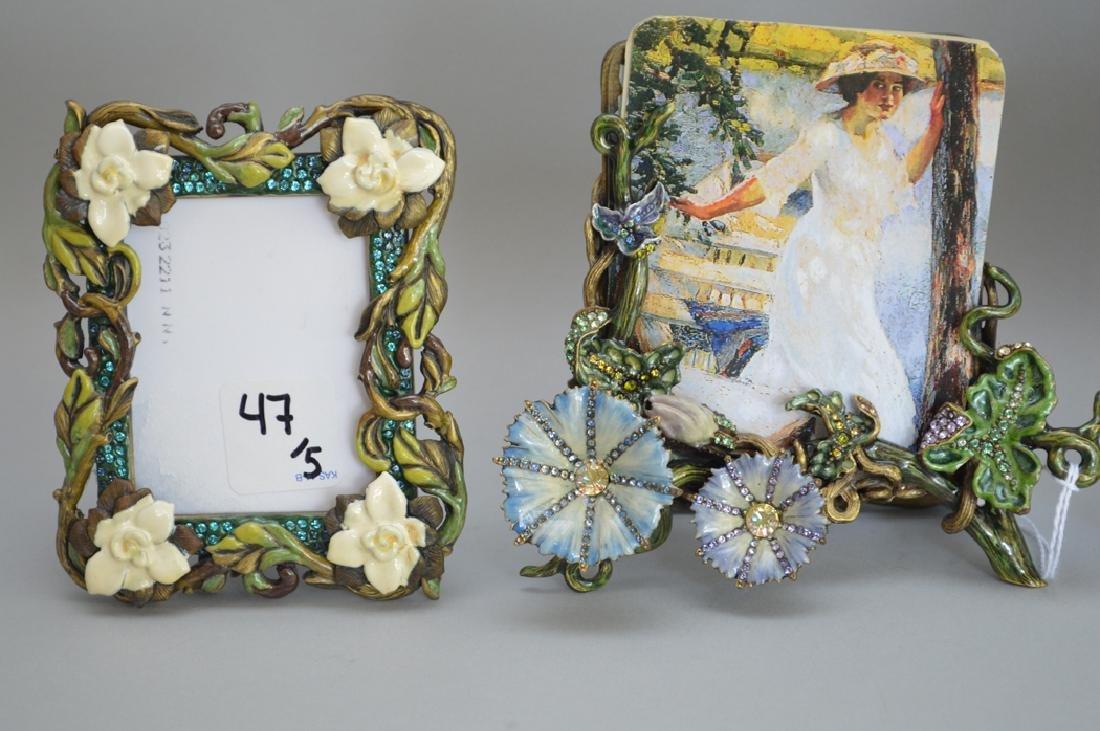 5 Jay Strongwater enamel frames, each signed, tallest 6 - 4