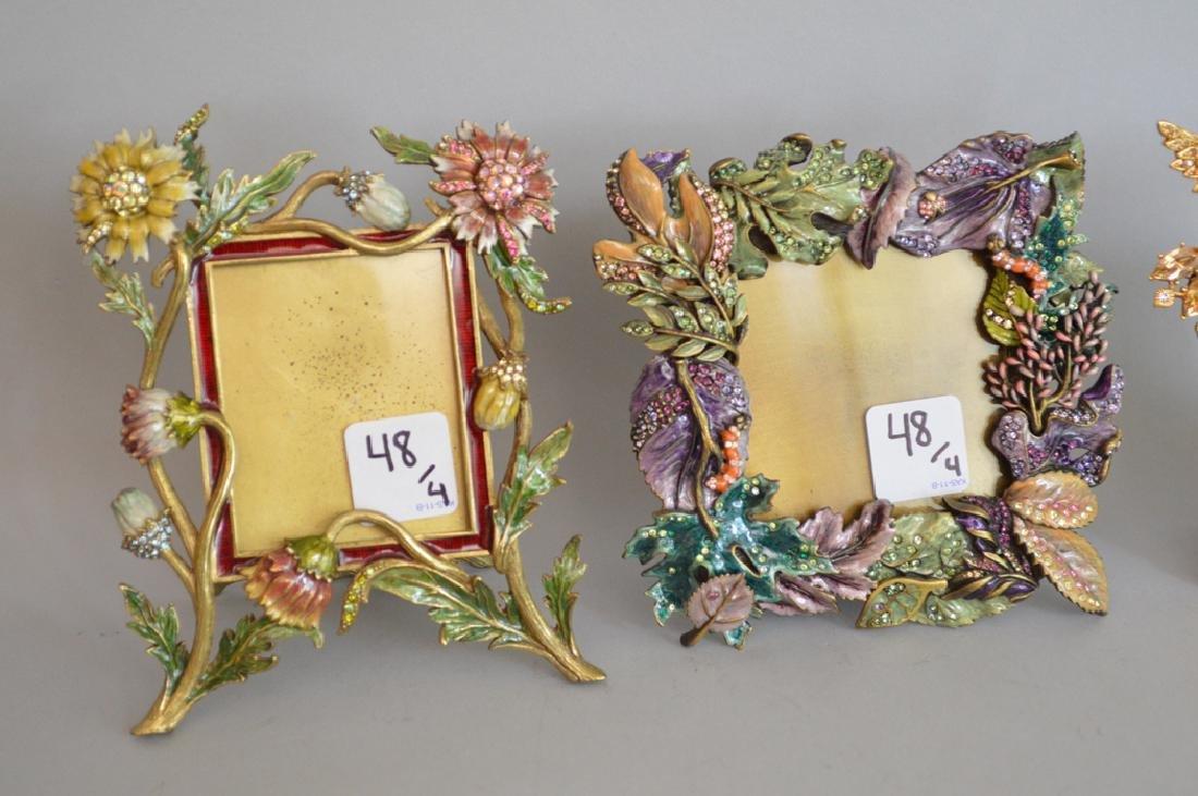 4 Jay Strongwater enamel frames, each signed, tallest - 2