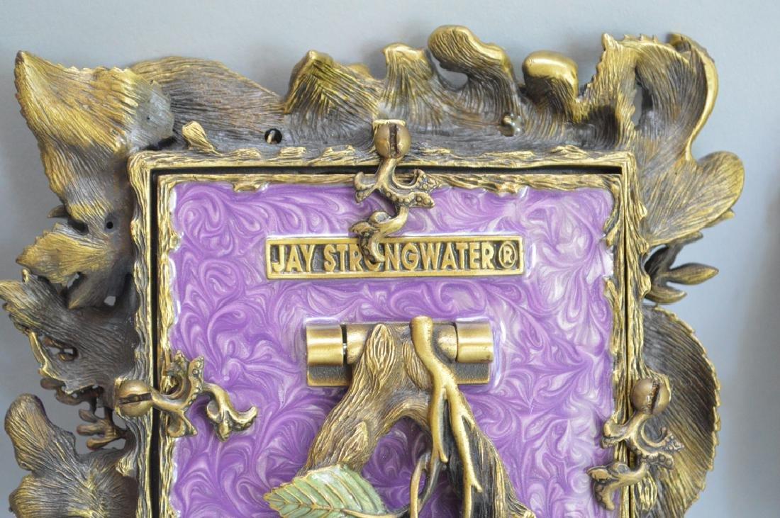 4 Jay Strongwater enamel frames, each signed, tallest - 7