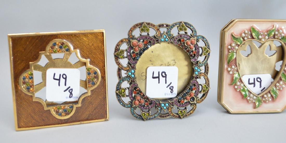 8 Jay Strongwater enamel frames, each signed, tallest - 5