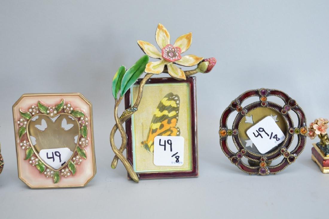 8 Jay Strongwater enamel frames, each signed, tallest - 6