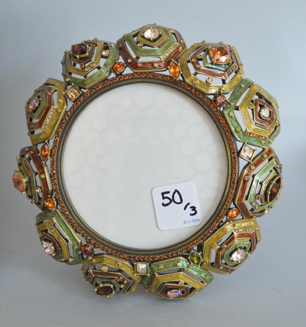 3 Jay Strongwater enamel frames, each signed, - 2