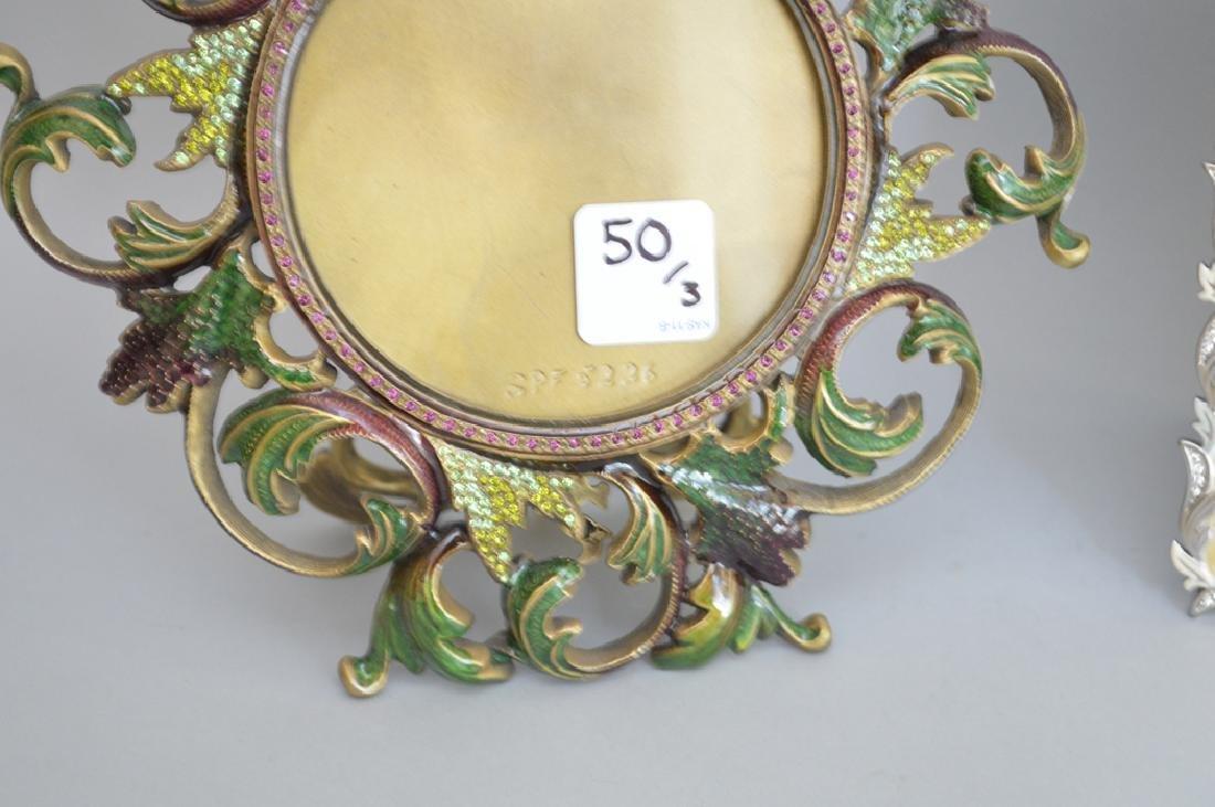 3 Jay Strongwater enamel frames, each signed, - 3