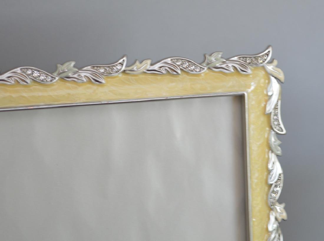 3 Jay Strongwater enamel frames, each signed, - 4