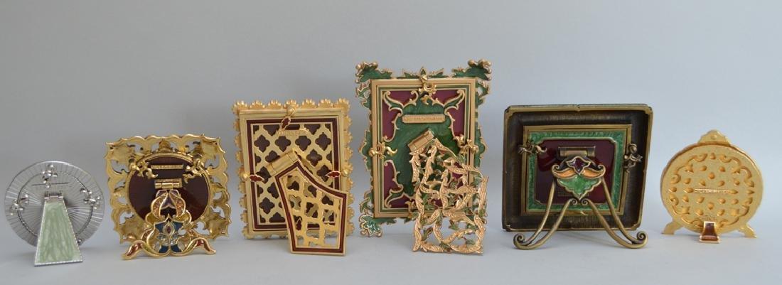 5 Jay Strongwater enamel frames, each signed, tallest - 5