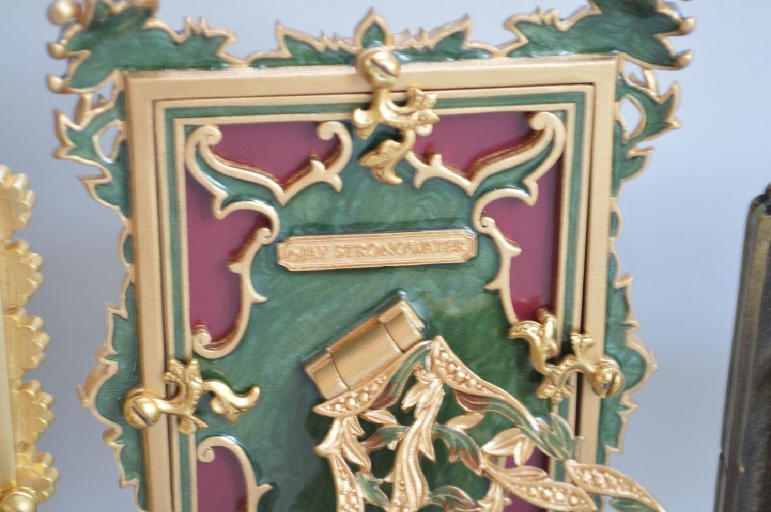 5 Jay Strongwater enamel frames, each signed, tallest - 6