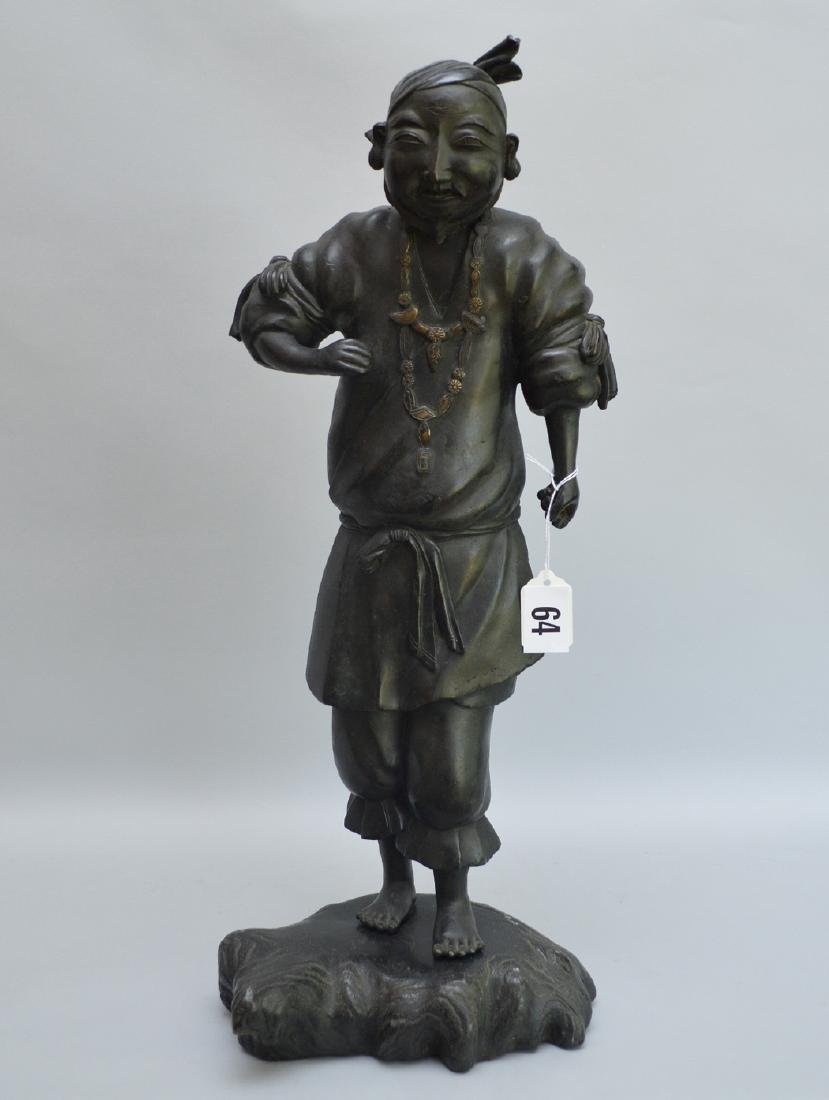 Chinese bronze sculpture of man, possible item from