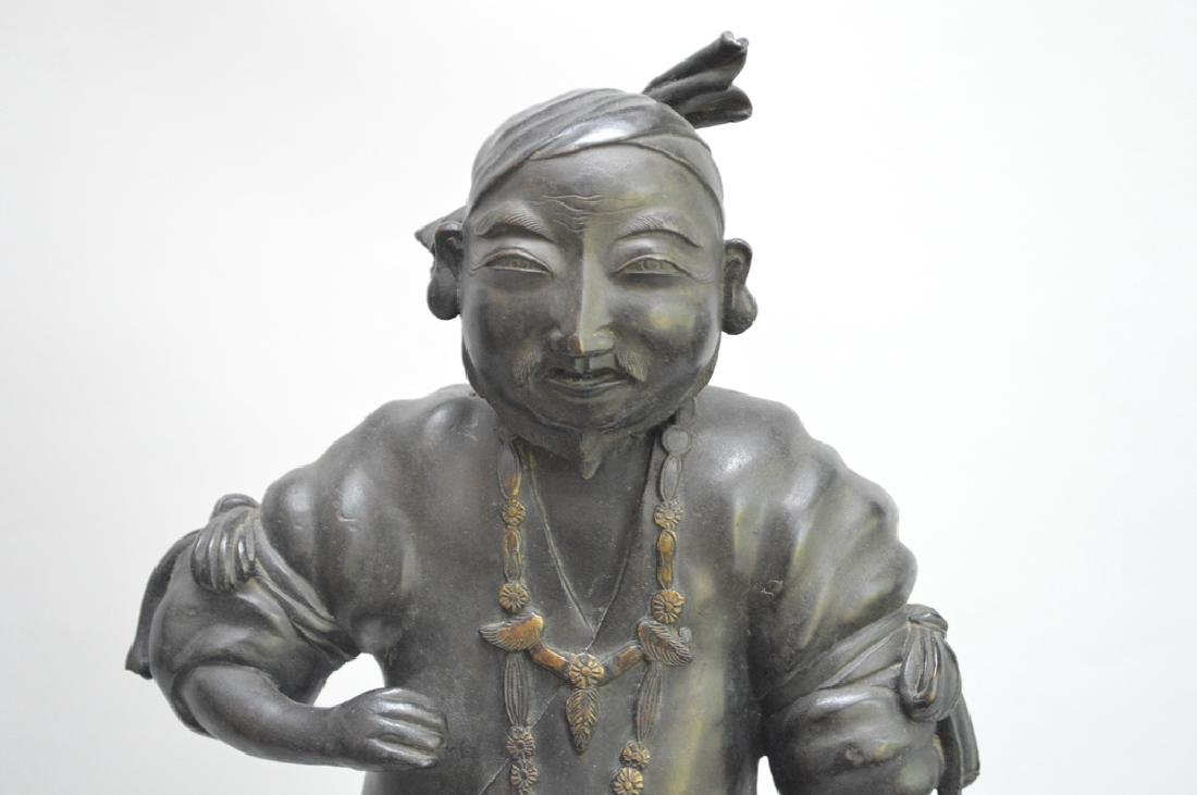 Chinese bronze sculpture of man, possible item from - 2