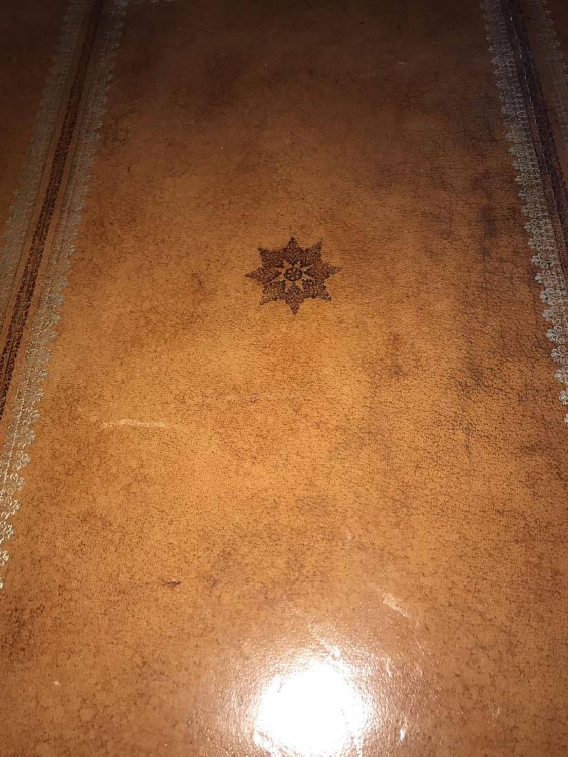 Large Maitland Smith leather and bronze trunk/coffee - 6