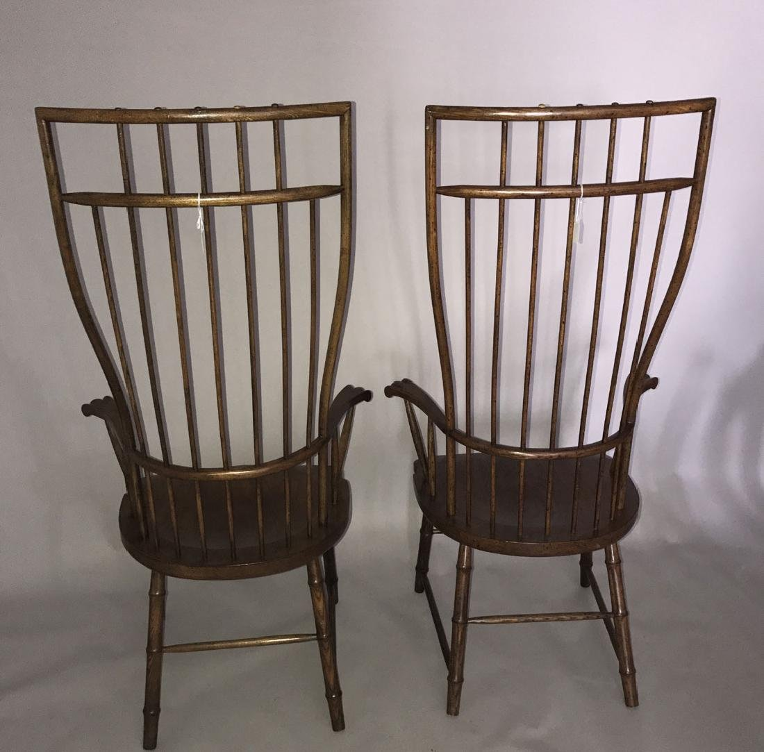 Pair of tall Windsor style wood chairs, 54h x 27w x 19d - 7