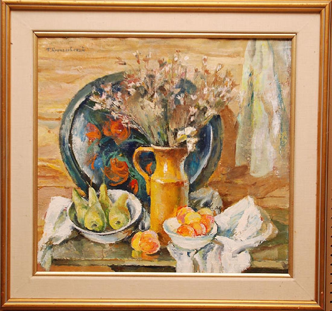 Russian Painting Attributed to: P.KONCHALOVSKY, oil on