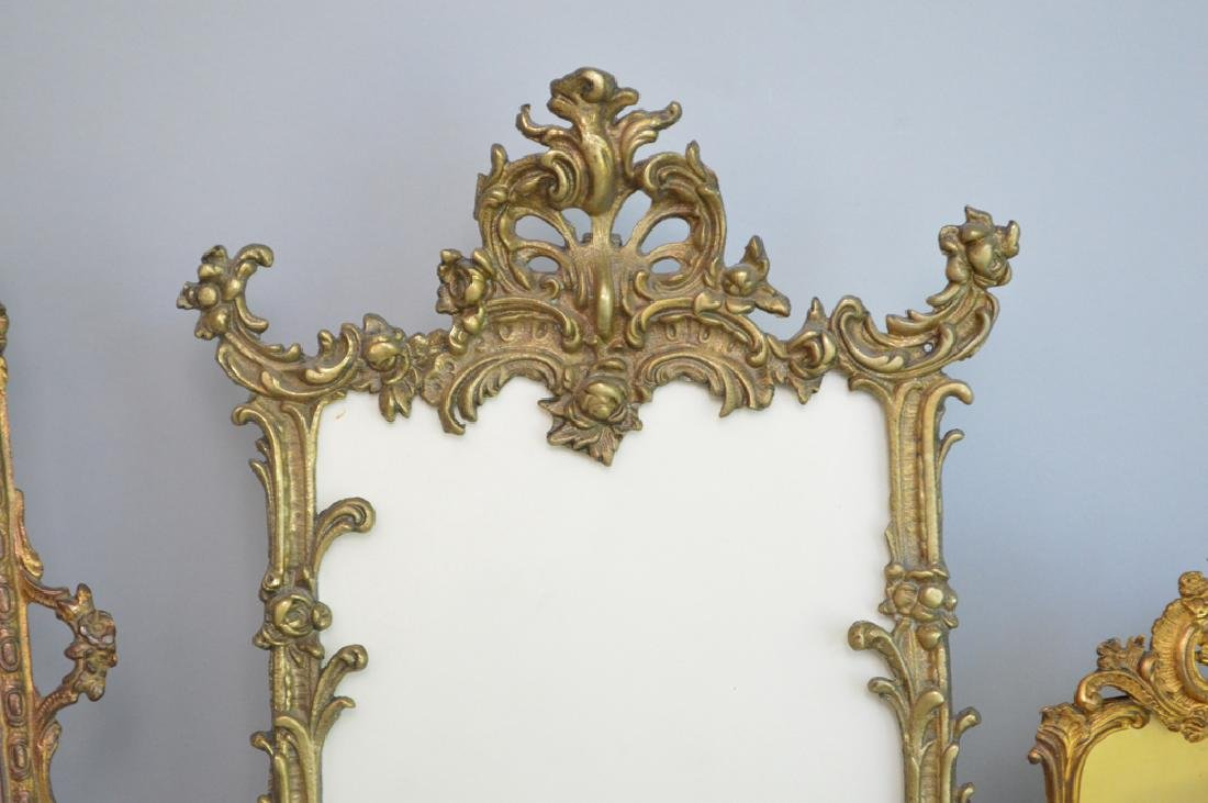 Collection 6 Victorian brass picture frames assorted - 2