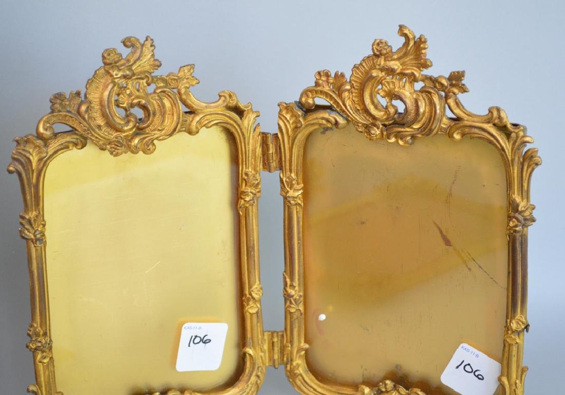 Collection 6 Victorian brass picture frames assorted - 4