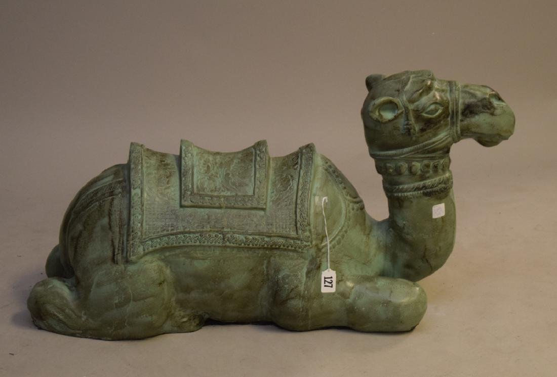 Large Patinated Metal Camel attributed to Maitland