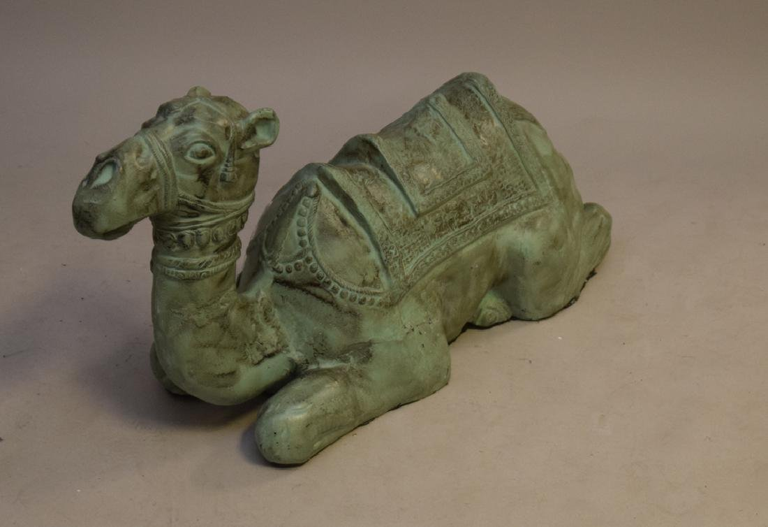 Large Patinated Metal Camel attributed to Maitland - 3