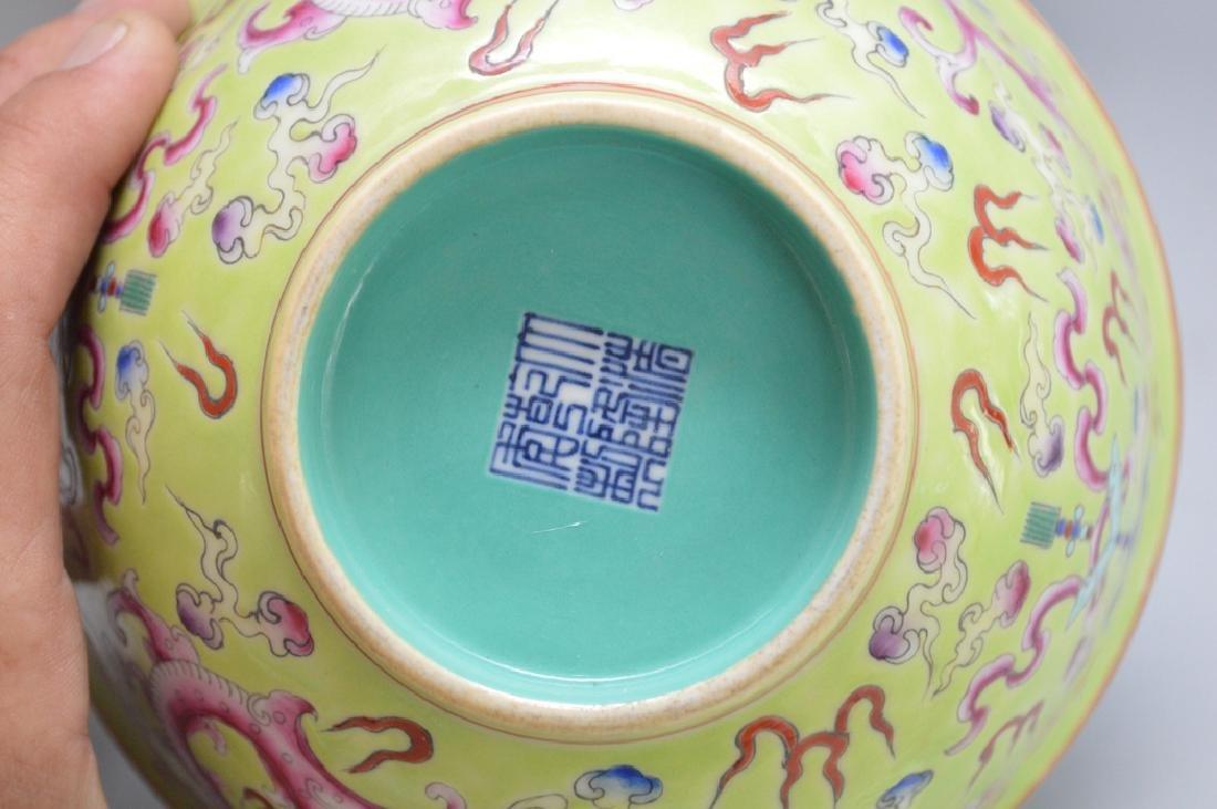 2 Pieces Chinese Porcelain.  Bowl Ht. 3 1/8 Dia. 6 1/4, - 3