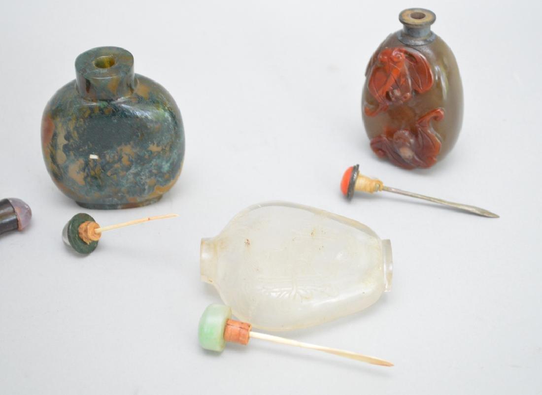 4 Chinese Glass Snuff Bottles.   Tallest Bottle 2 7/8. - 5