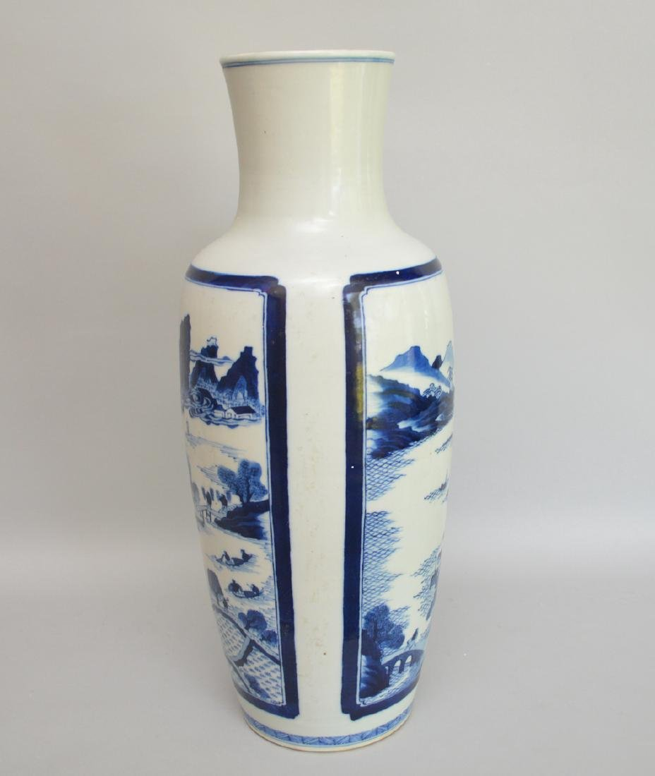 2 Large Chinese Porcelain Vases.  1 Vase with red and - 5