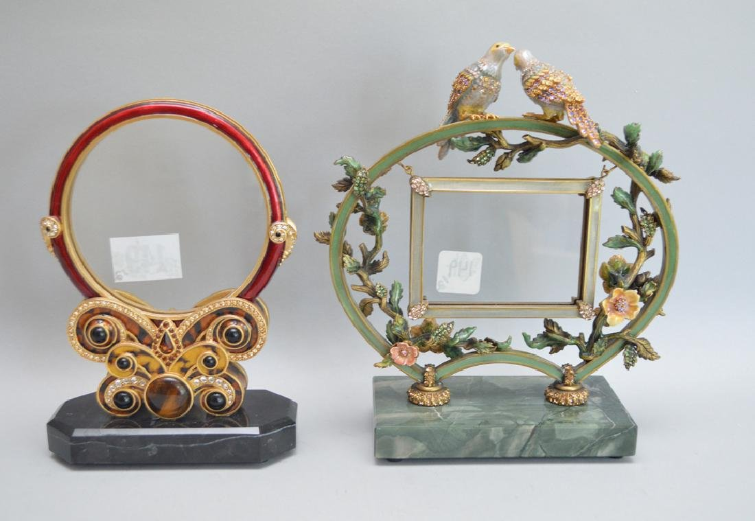 2 Jay Strongwater Enamel Frames.  Condition: good. Each - 5