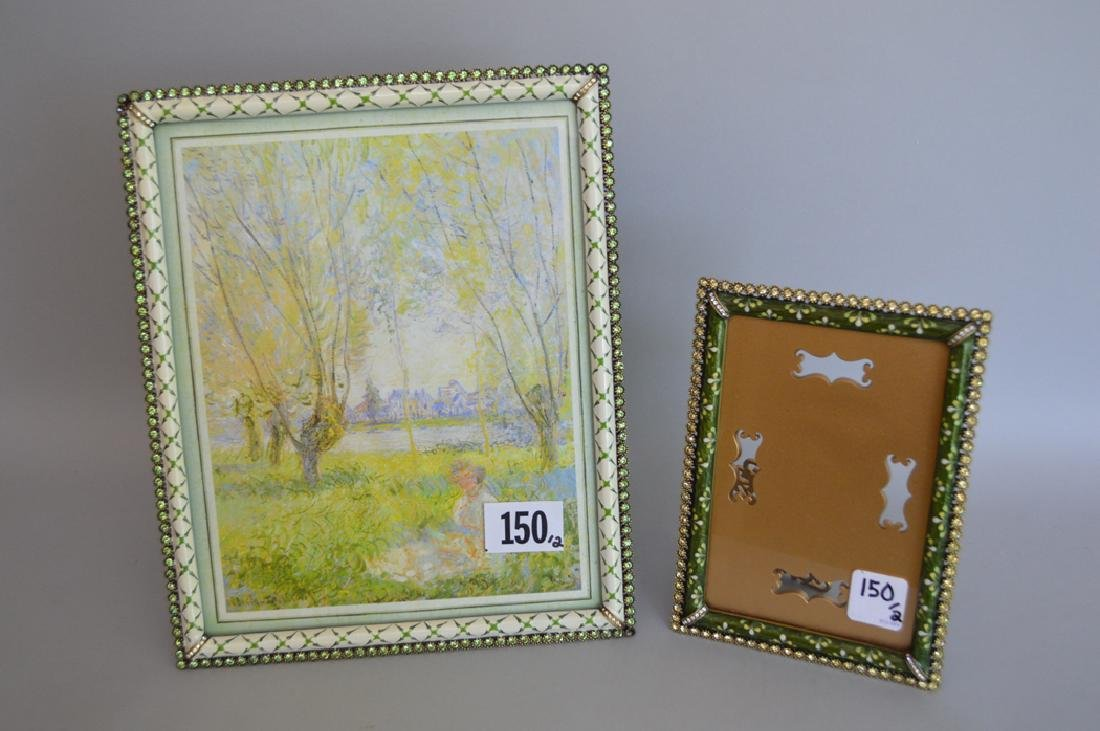 2 jay strongwater enamel frames condition good each - Enamel Picture Frames