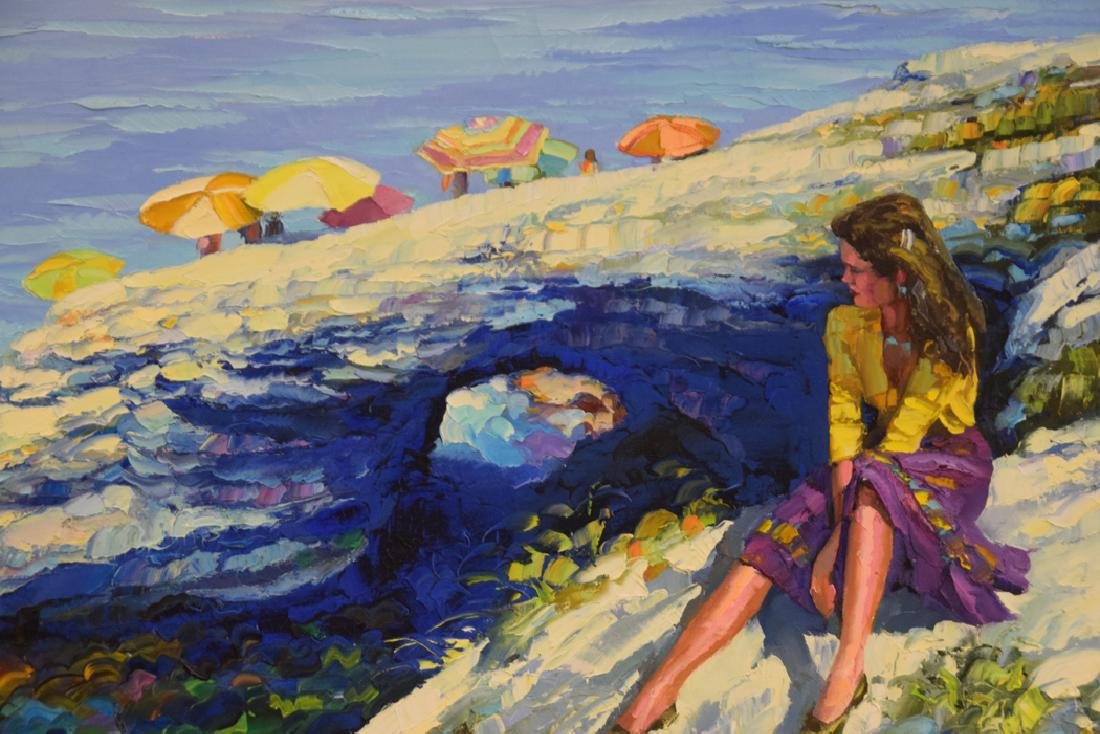 Howard Behrens (AMERICAN, 1933) oil on canvas, girl by - 4