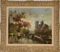Antoine Blanchard (French 1910–1988) Quai St. Michel,