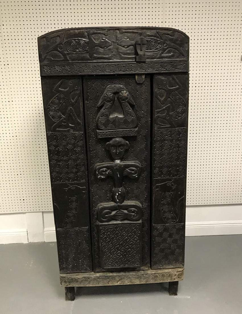 Elaborately carved Island cabinet, 66h x 32w x 16 1/2d - 2