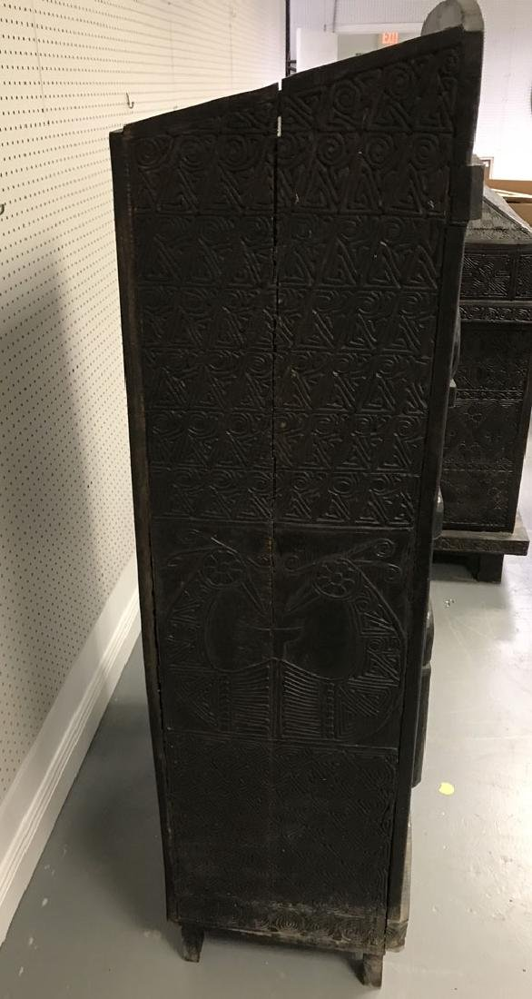 Elaborately carved Island cabinet, 66h x 32w x 16 1/2d - 4