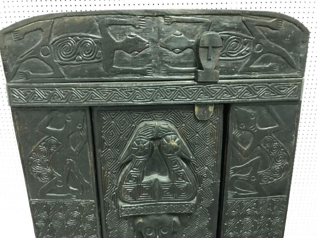 Elaborately carved Island cabinet, 66h x 32w x 16 1/2d - 5