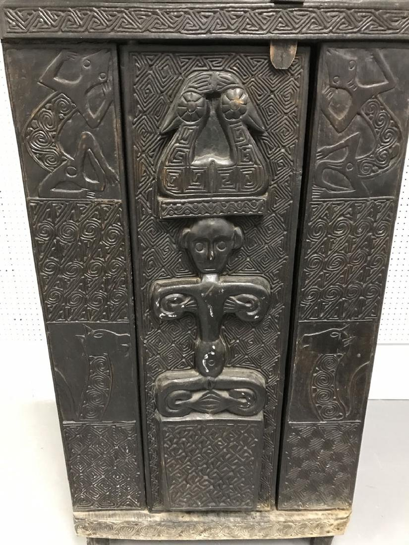 Elaborately carved Island cabinet, 66h x 32w x 16 1/2d - 6
