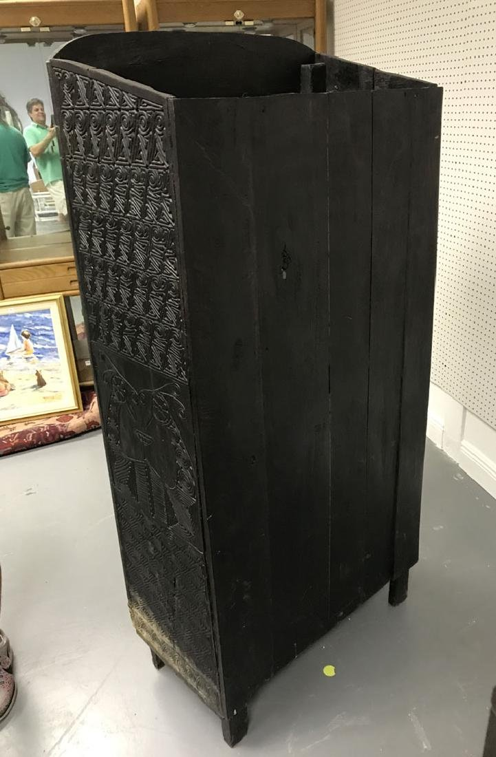 Elaborately carved Island cabinet, 66h x 32w x 16 1/2d - 8