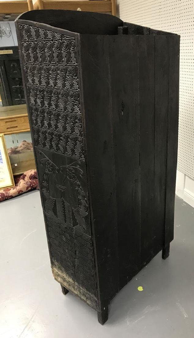 Elaborately carved Island cabinet, 66h x 32w x 16 1/2d - 9