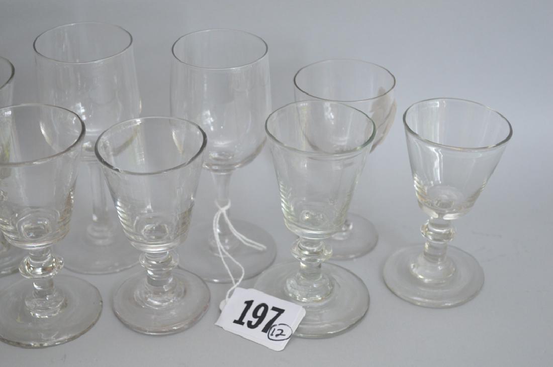 12 assorted 19th c. English wine glasses - 2