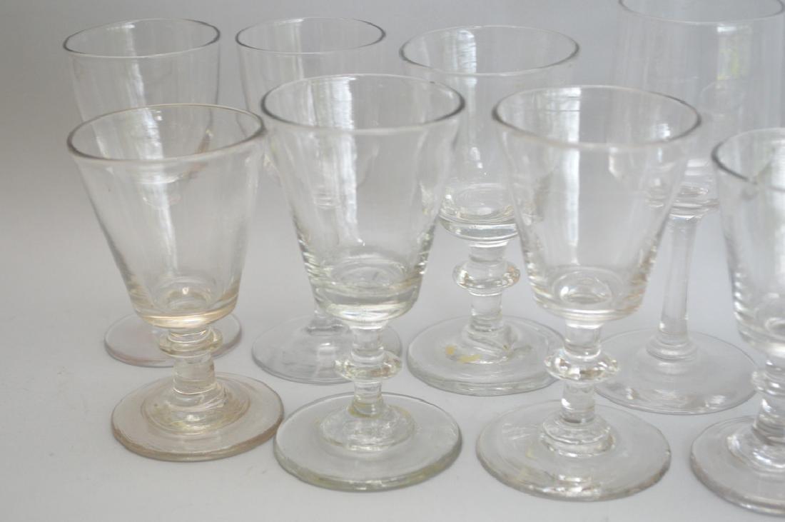 12 assorted 19th c. English wine glasses - 3