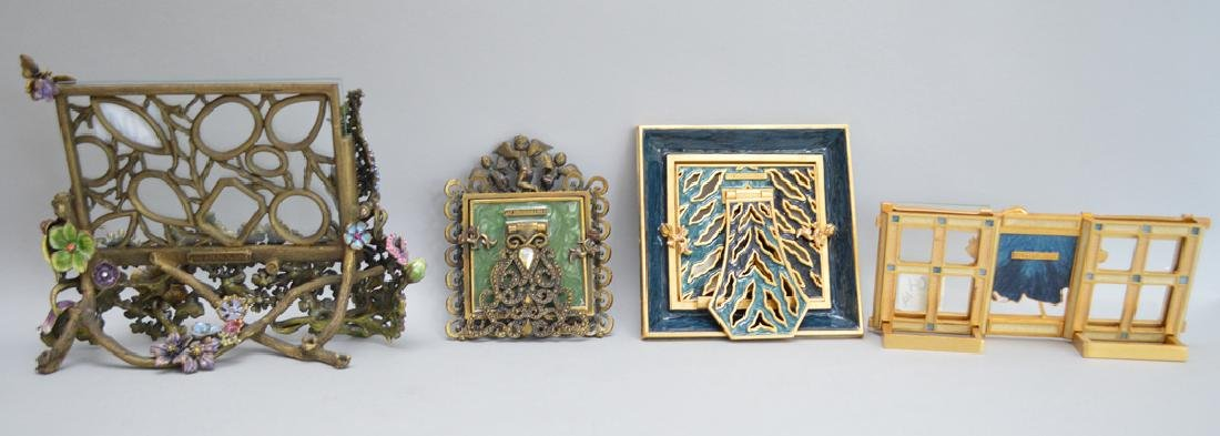 4 Jay Strongwater Enamel & Jeweled Frames.  Condition: - 7