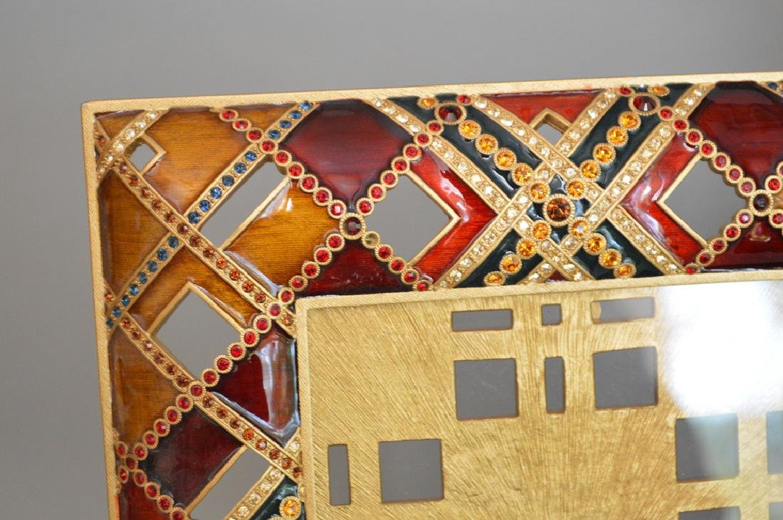 3 Jay Strongwater Frames. 1 Mahogany Bronze & Enamel - 3