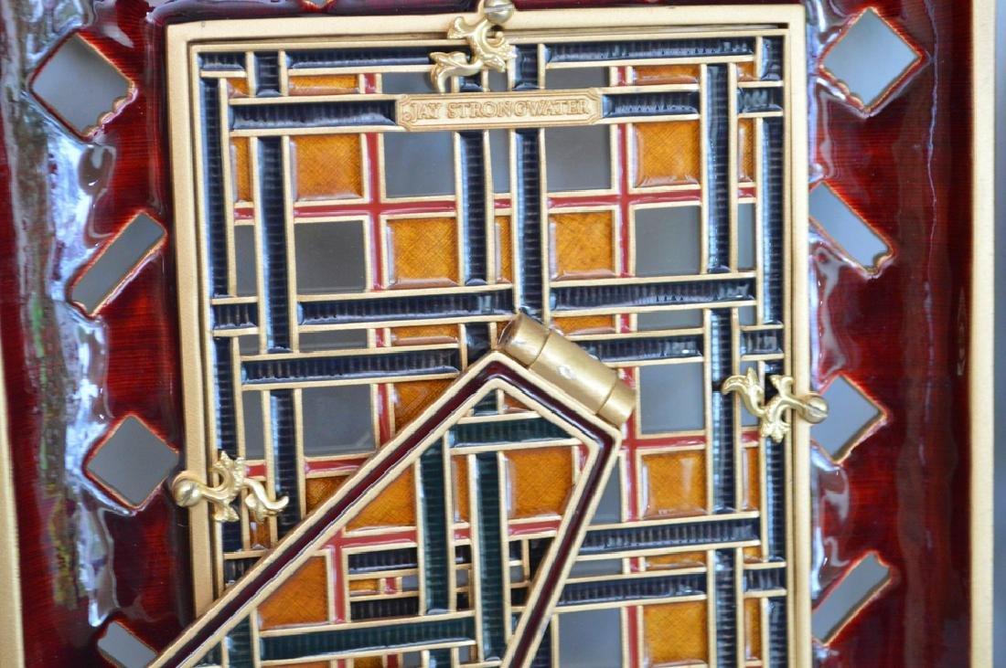 3 Jay Strongwater Frames. 1 Mahogany Bronze & Enamel - 8