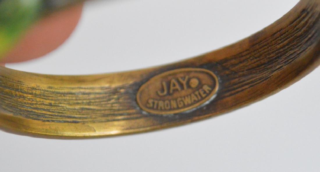 12 Jay Strongwater Bronze & Enamel Napkin Rings. - 3