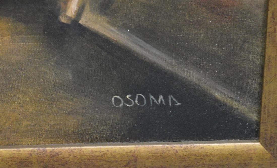 Oil Decorative on board of a Conquistador, 23 x 31 - 5